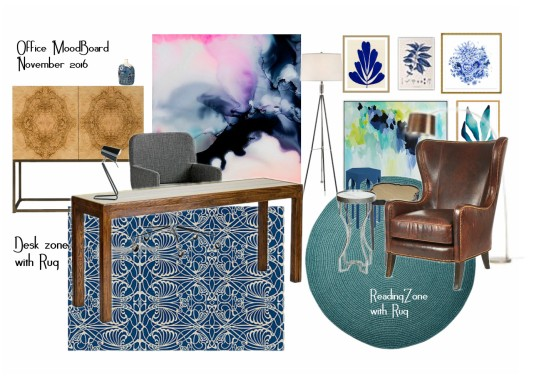 Mood Board Office Items & Colours