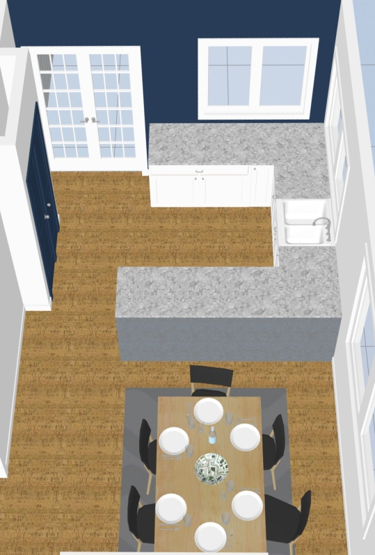 After - floorplan removed wall